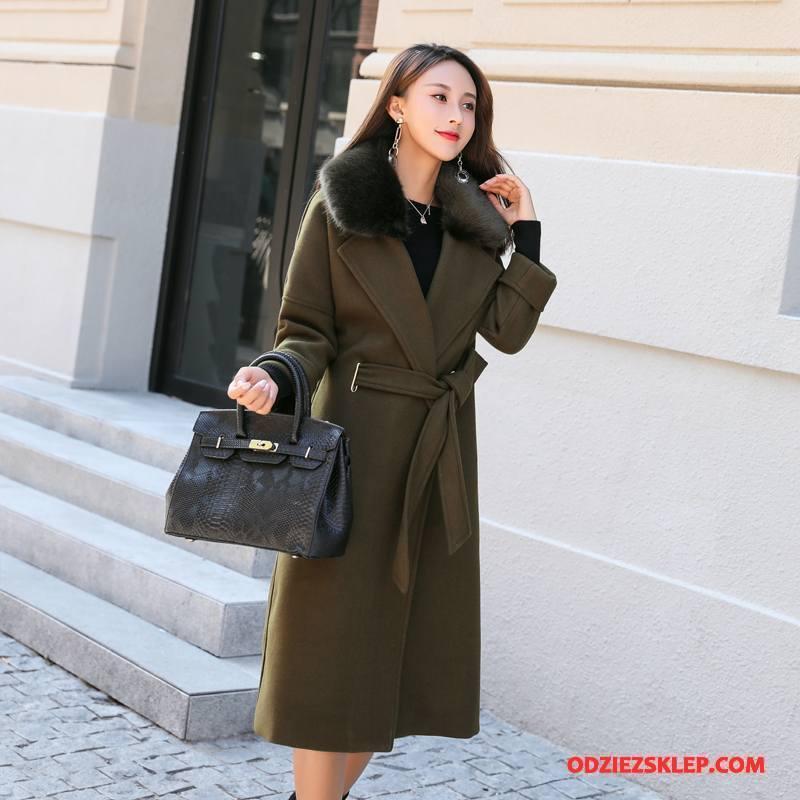 Damskie Płaszcze Moda Słodkie Szycie 2018 Casual Długie Czysta Fioletowy Na Sprzedaż