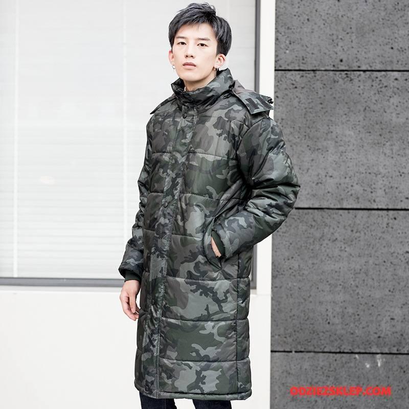 2d9d4bb5b91d9 Męskie Kurtka Bawełniana Zima Casual Ubrania Bawełniane Kurtka Puchowa  Długie Ciepłe Kamuflaż Biały Online