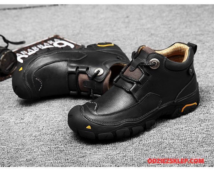 Buty Na Wędrówki Męskie Z Grubą Podeszwą Antypoślizgowe Zima