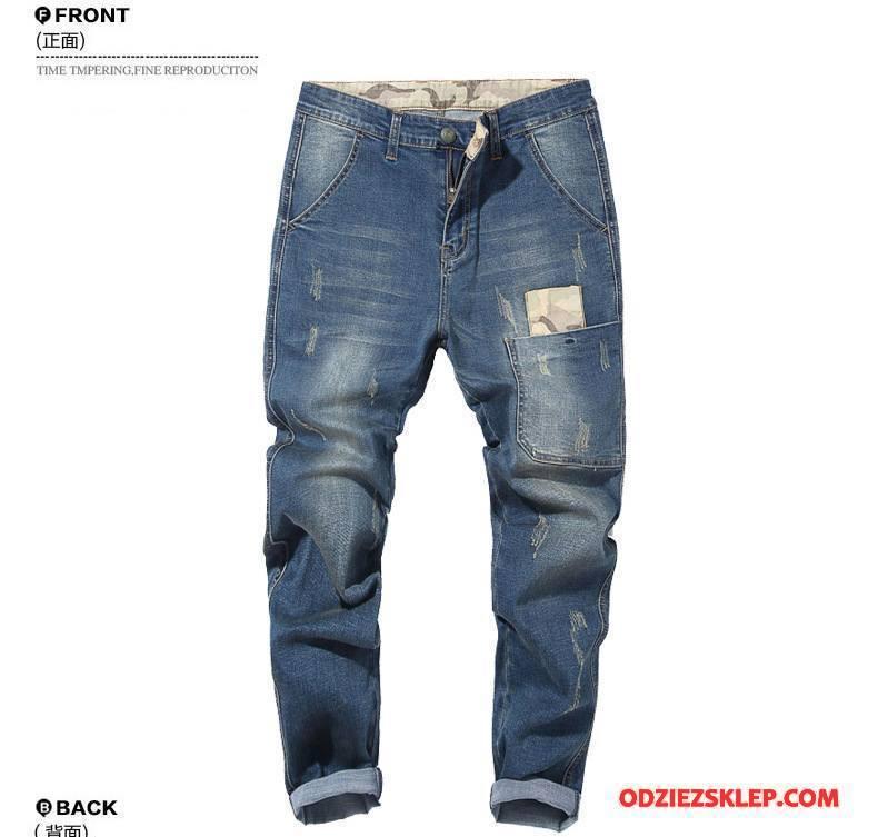 d94a99b9 Męskie Jeansy Spodnie Zima Duży Rozmiar Męska Elastyczne Nowy Kamuflaż  Niebieski Na Sprzedaż