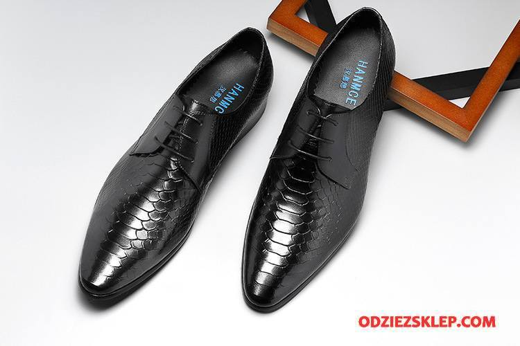 buty męskie wizytowe wężowej skóry