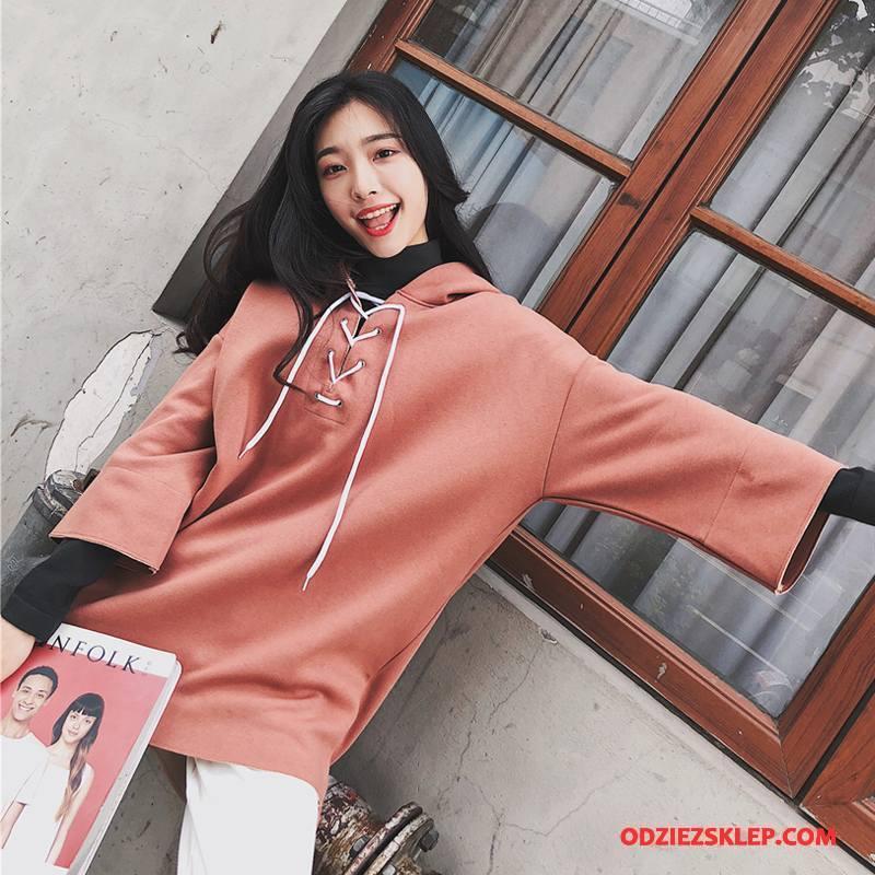 Damskie Bluza Z Kapturem Slim Fit Bluzy Z Kapturem Wiosna Cienkie Moda Eleganckie Czerwony Kupię