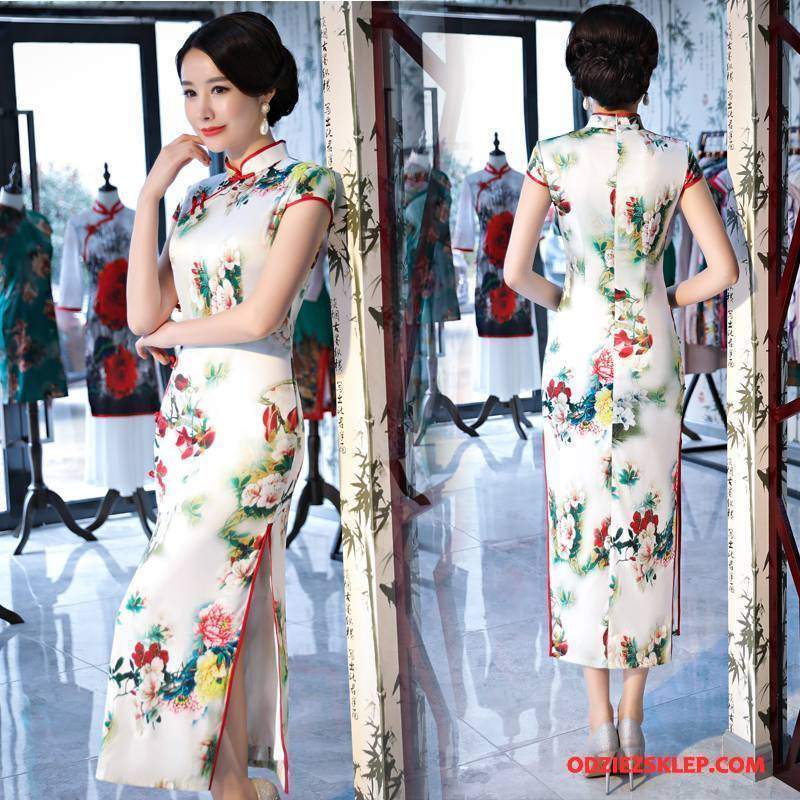 Damskie Cheongsam Słodkie Sukienka Eleganckie Moda Swag Piękny Biały Na Sprzedaż