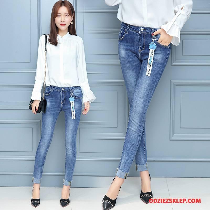a878d5a3f02a81 Damskie Jeansy Cienkie Świeży Dżinsy Tendencja Slim Fit Eleganckie  Niebieski Tanie