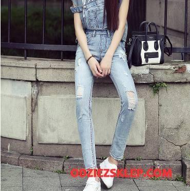 Damskie Jeansy Dżinsy Proste Wygodne Młodzieżowa Moda Slim Fit Jasny Niebieski Sprzedam