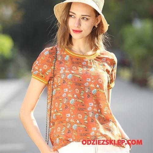 Damskie Jedwabna Sukienka Eleganckie 2018 Kreatywne Swag Tendencja Wiosna Oranż Dyskont