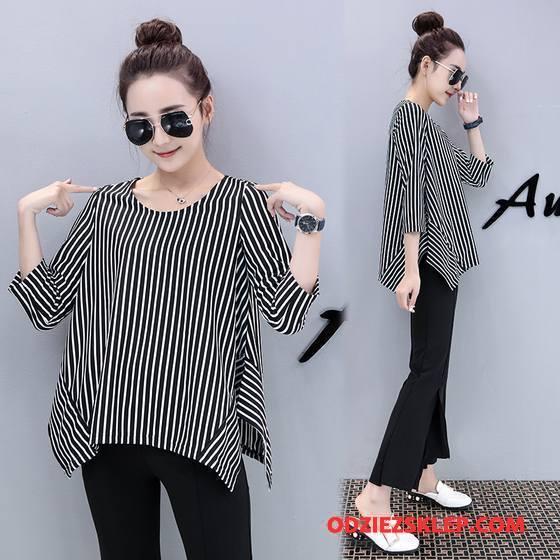 Damskie Koszulki Tendencja Moda Slim Fit 2018 Długie Wiosna Czysta Czarny Sklep
