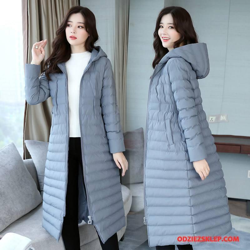 Damskie Kurtka Bawełniana Ubrania Bawełniane Dla Grubych Eleganckie Długi Rękaw Casual Długie Szary Sprzedam