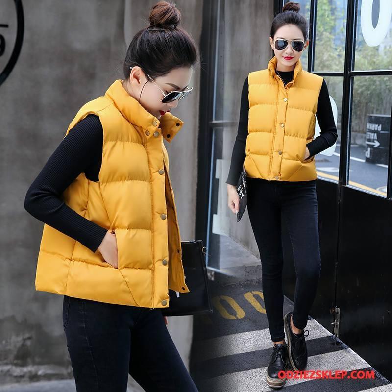 Damskie Kurtka Bawełniana Ubrania Bawełniane Moda Poliester 2018 Bawełniana Kurtka Tendencja Czysta Żółty Na Sprzedaż