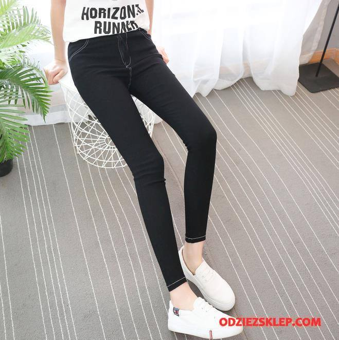 Damskie Legginsy Lato Casual Moda Slim Fit Jesień 2018 Czarny Online