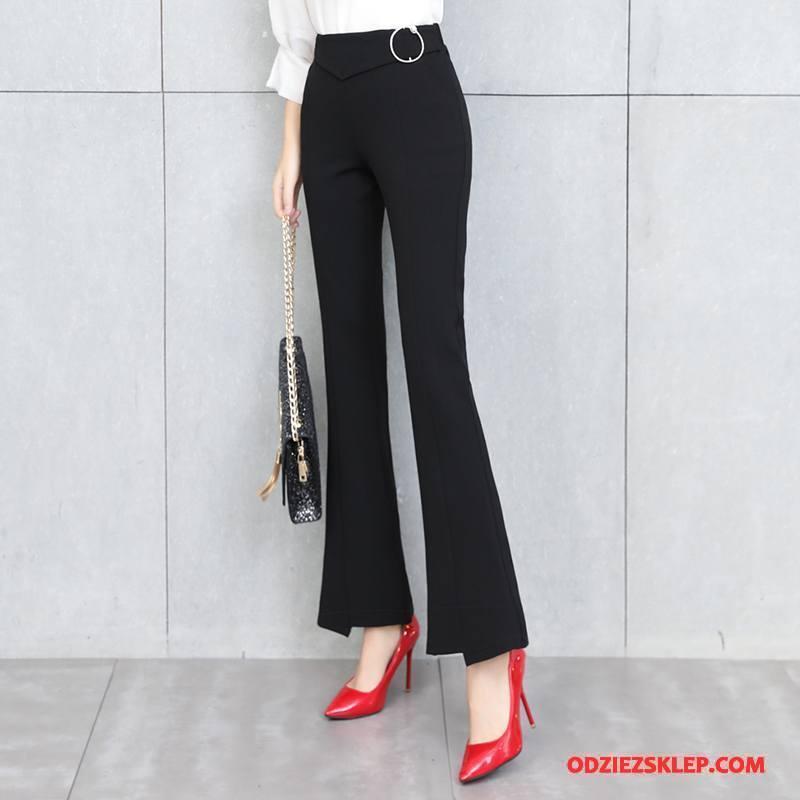 Damskie Legginsy Osobowość Spodnie Eleganckie Wygodne Slim Fit Casual Czarny Sklep