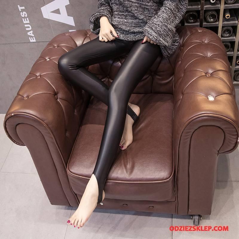 Damskie Legginsy Plus Kaszmir Super Zima Eleganckie Spodnie Tendencja Czarny Sprzedam