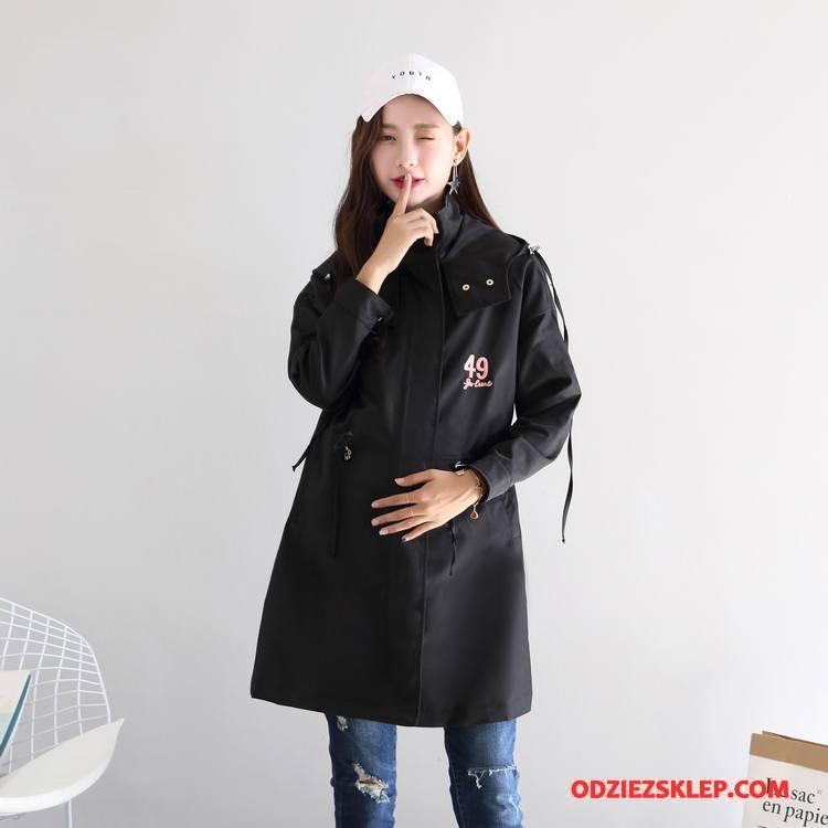 Damskie Odzież Ciążowa 2018 Vintage Nastolatek Casual Młodzieżowa Jednorzędowy Czysta Czarny Sprzedam