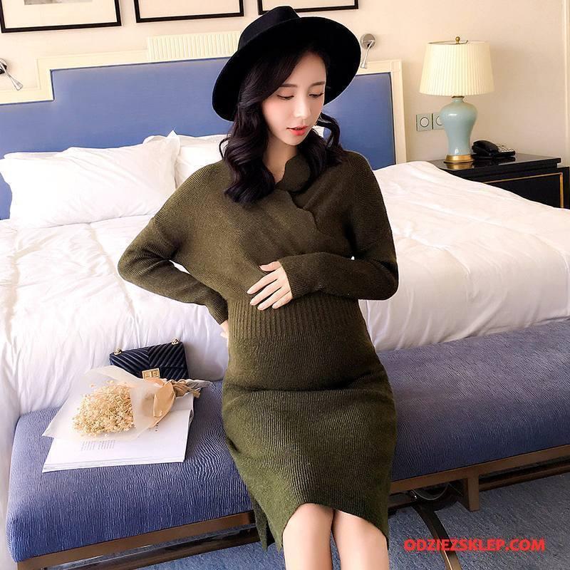 Damskie Odzież Ciążowa 2018 Wygodne Tendencja Moda Eleganckie Okrągły Dekolt Czysta Zielony Sklep