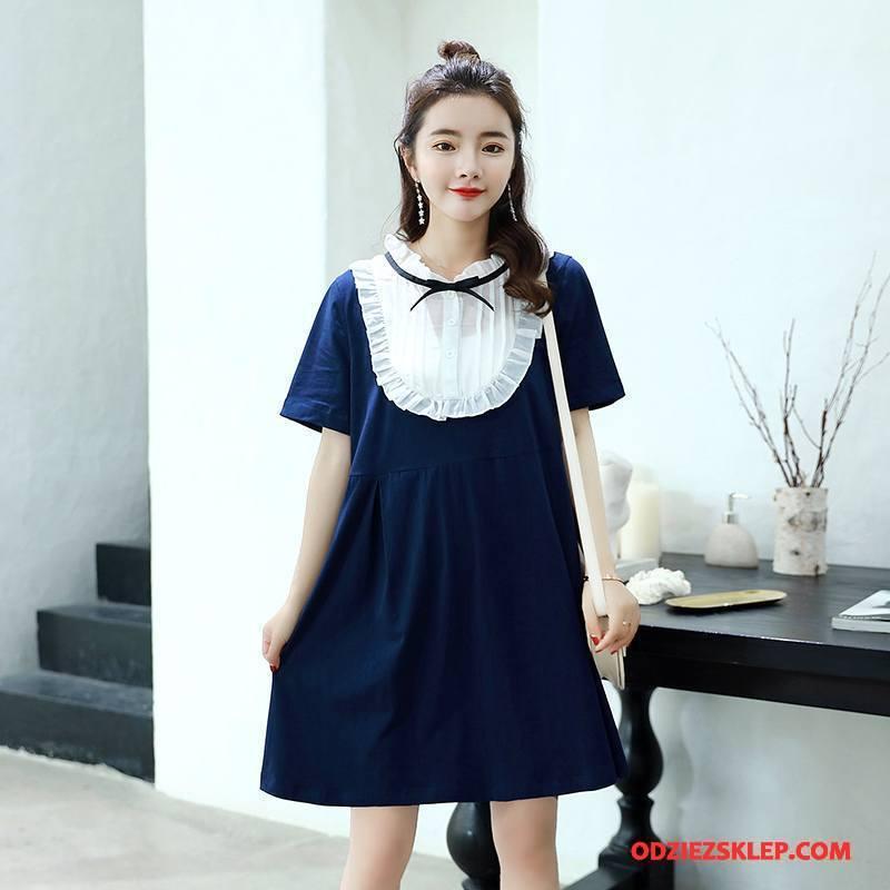 Damskie Odzież Ciążowa Cienkie Moda Slim Fit Wygodne Proste Casual Ciemno Niebieski Kup