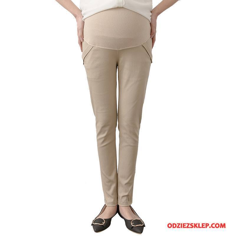 Damskie Odzież Ciążowa Ołówkowe Spodnie Moda Wiosna Ciąża Eleganckie Kieszenie Czysta Beżowy Tanie