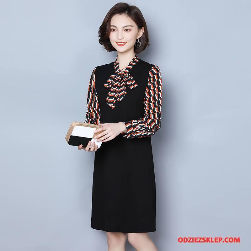 Damskie Odzież Duże Rozmiary Szerokie Duży Rozmiar Sukienka Casual Pullover Moda Czarny Tanie