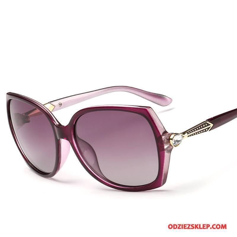 Damskie Okulary Przeciwsłoneczne Bicolored Polaryzator Specjalne Damska Dla Kierowców Oryginalne Fioletowy Kupię