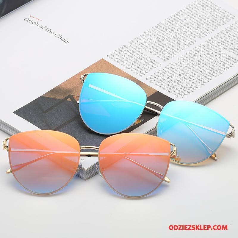 Damskie Okulary Przeciwsłoneczne Damska Moda Okrągła Nowy Trendy Kolor Niebieski Sklep