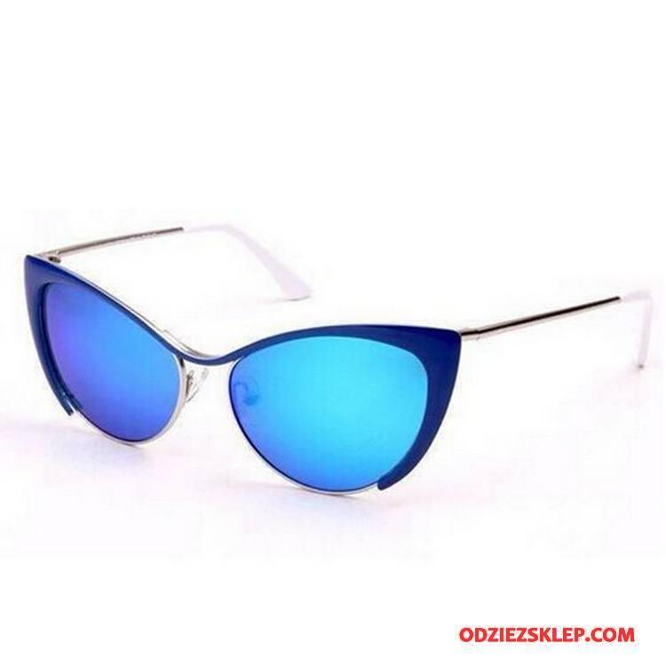 Damskie Okulary Przeciwsłoneczne Moda Damska Kolorowe Niebieski Złoty Fioletowy Sklep