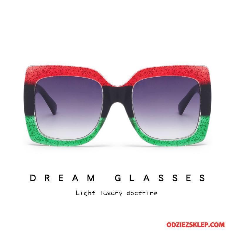 Damskie Okulary Przeciwsłoneczne Nowy Damska Moda Plastikowy Kwadratowy Europa Czerwony Dyskont