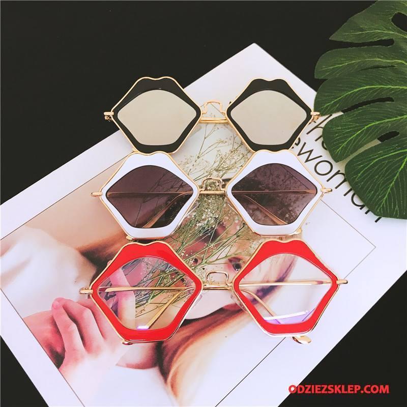 Damskie Okulary Przeciwsłoneczne Osobowość Damska Męska Europa Moda Nowy Kolor Złoty Tanie