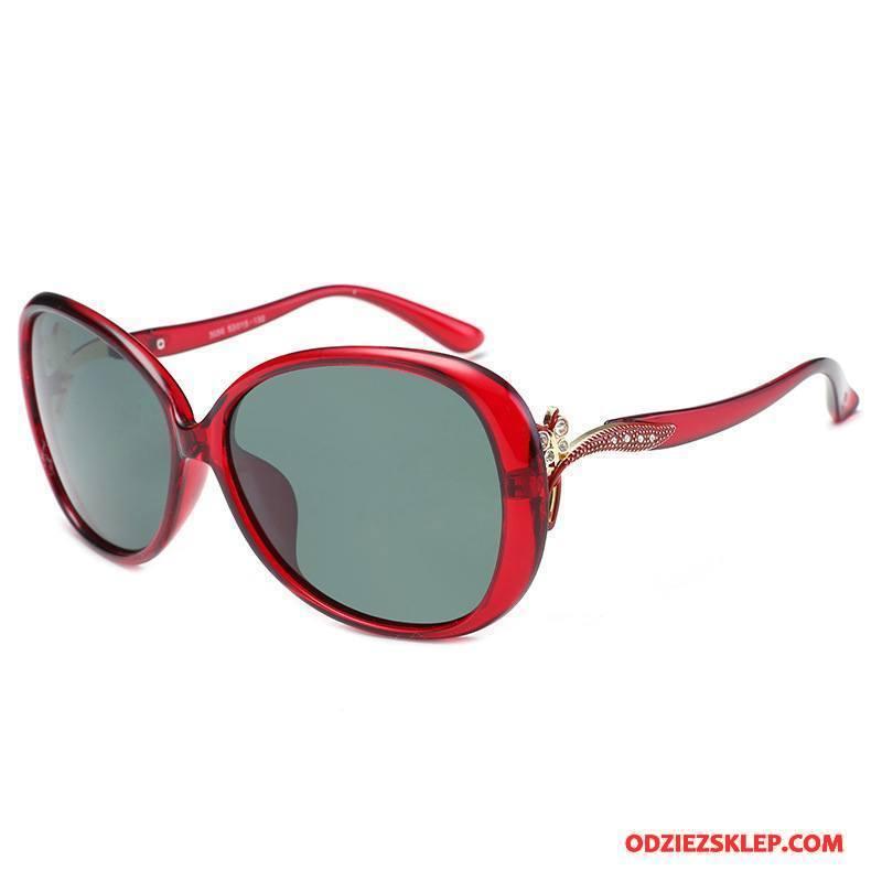 Damskie Okulary Przeciwsłoneczne Plastikowy Klasyczny Moda Wielki Polaryzator Damska Czerwony Online