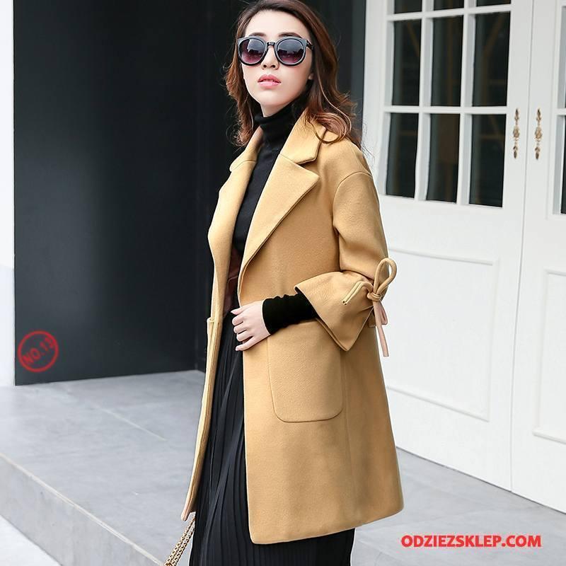 Damskie Prochowiec Zima Slim Fit Moda Proste Tendencja Osobowość Sprzedam