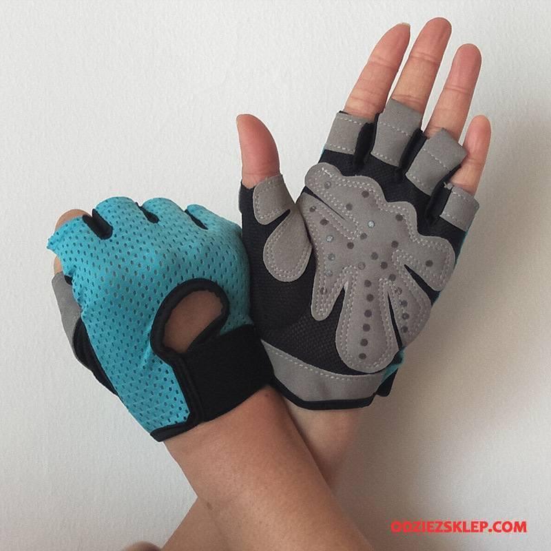 Damskie Rękawiczki Odporne Na Zużycie Training Cienkie Damska Outdoor Pół Palca Niebieski Kup