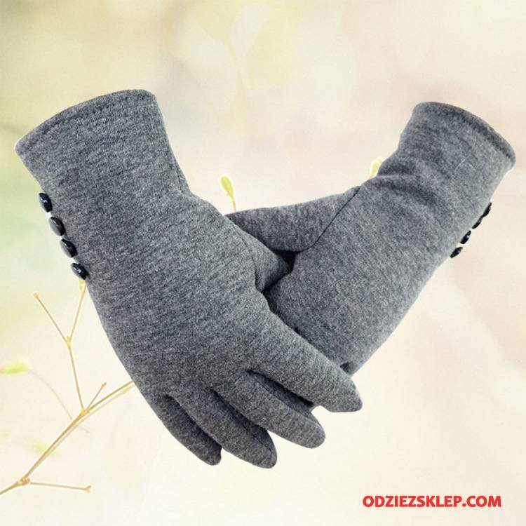 Damskie Rękawiczki Utrzymuj Ciepło Moda Nowy Aksamit Zima Jesień Szary Tanie