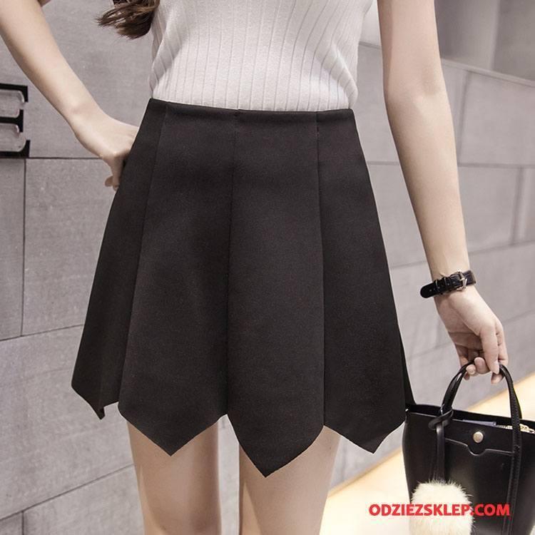 Damskie Spódnica Krótkie Spódnice Środkowa Stan Plisowana Eleganckie Tendencja Moda Czysta Czarny Kup
