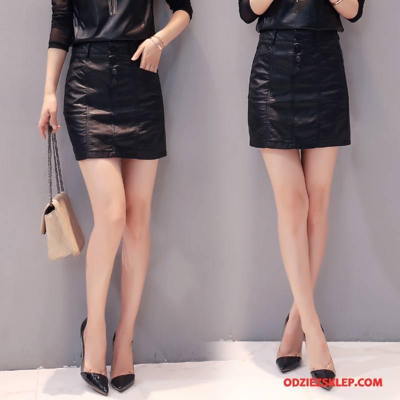 Damskie Spódnica Krótkie Spódnice Kieszenie Moda Tendencja Slim Fit Jesień Czysta Czarny Sklep
