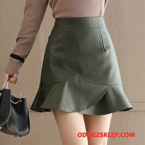 Damskie Spódnica Tendencja Slim Fit Cienkie 2018 Wiosna Moda Czysta Zielony Sprzedam