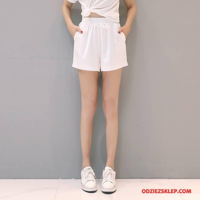 Damskie Spodenki Proste Wygodne Eleganckie Młodzieżowa Moda Osobowość Biały Kupię