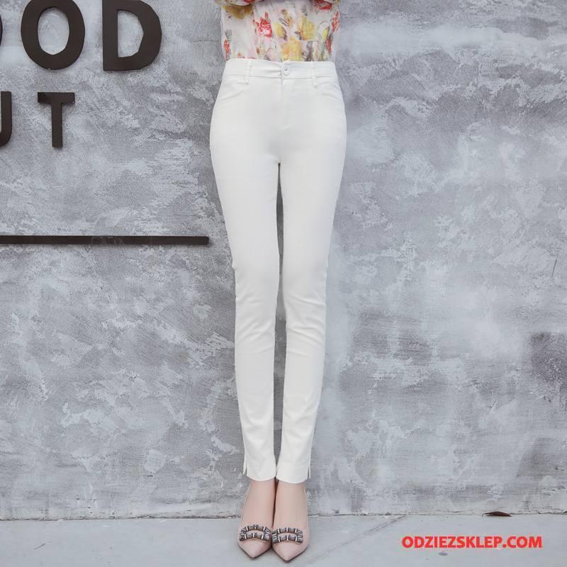 spodnie damskie białe cieńkie