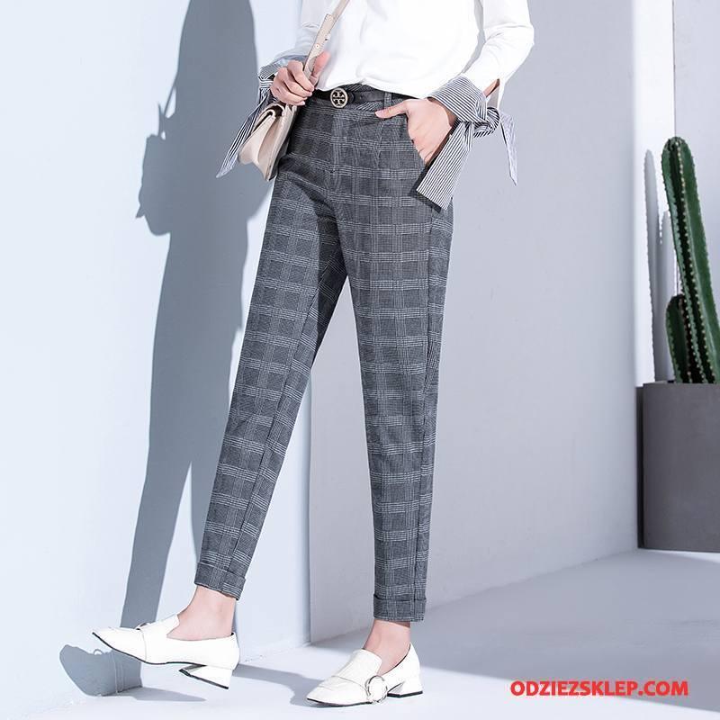 Damskie Spodnie Harlan Eleganckie Wiosna Casual Moda Tendencja Szary Kup