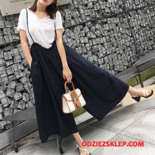Damskie Spodnie Moda Casual Eleganckie Jesień 2018 Tendencja Ciemno Niebieski Sprzedam