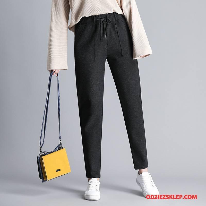 Damskie Spodnie Slim Fit Moda 2018 Tendencja Casualowe Spodnie Eleganckie Czysta Czarny Sprzedam