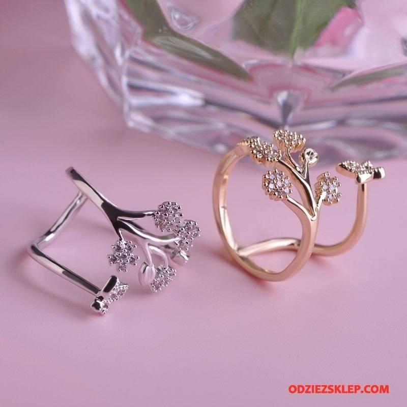 Damskie Srebrna Biżuteria Akcesoria Moda Damska Motyl Złoty Tanie
