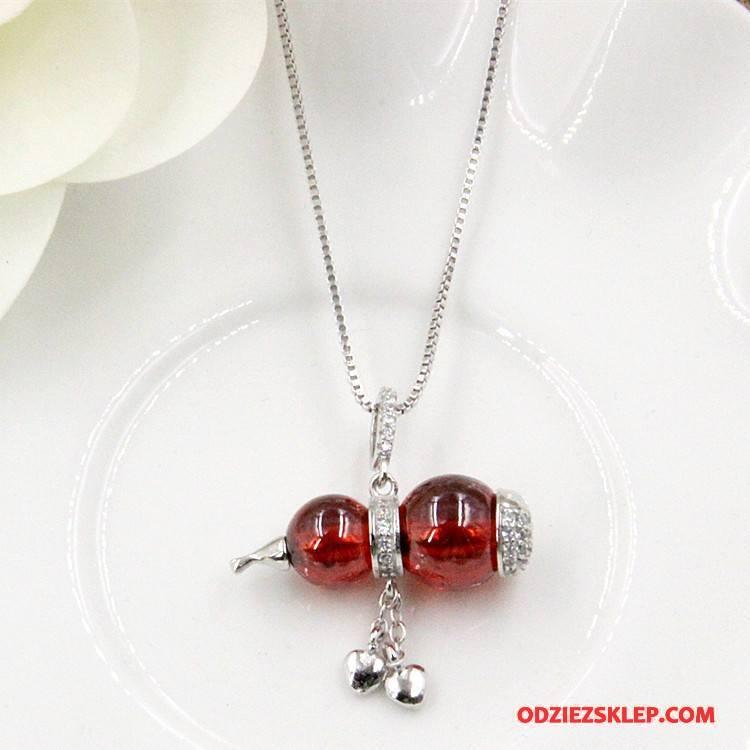 Damskie Srebrna Biżuteria Naturalny Kryształ Srebrny Czerwony Online