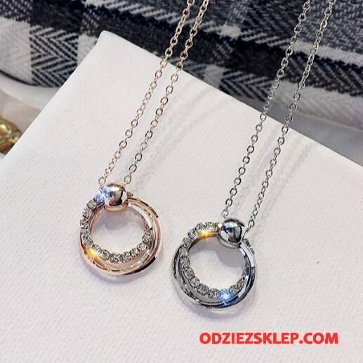 Damskie Srebrna Biżuteria Pierścienie Damska Akcesoria Prosty Rhinestone Okrągła Srebrny Sprzedam