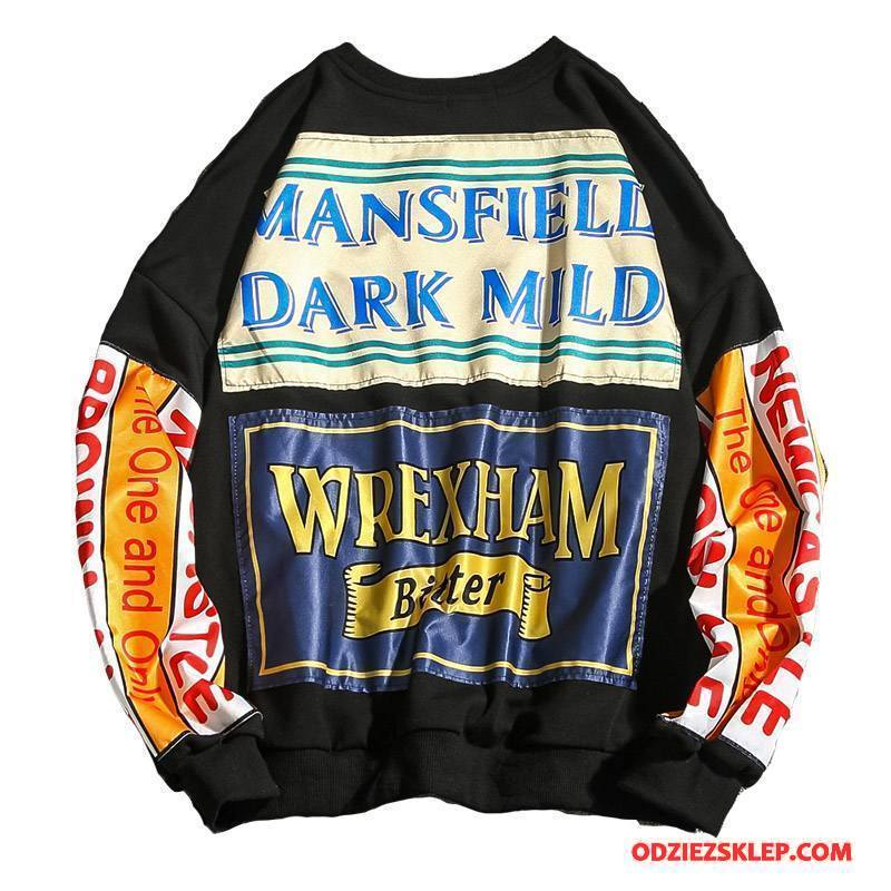 Męskie Bluza Z Kapturem Męska Bawełniane Bluzy Z Kapturem Nowy Czarny Na Sprzedaż