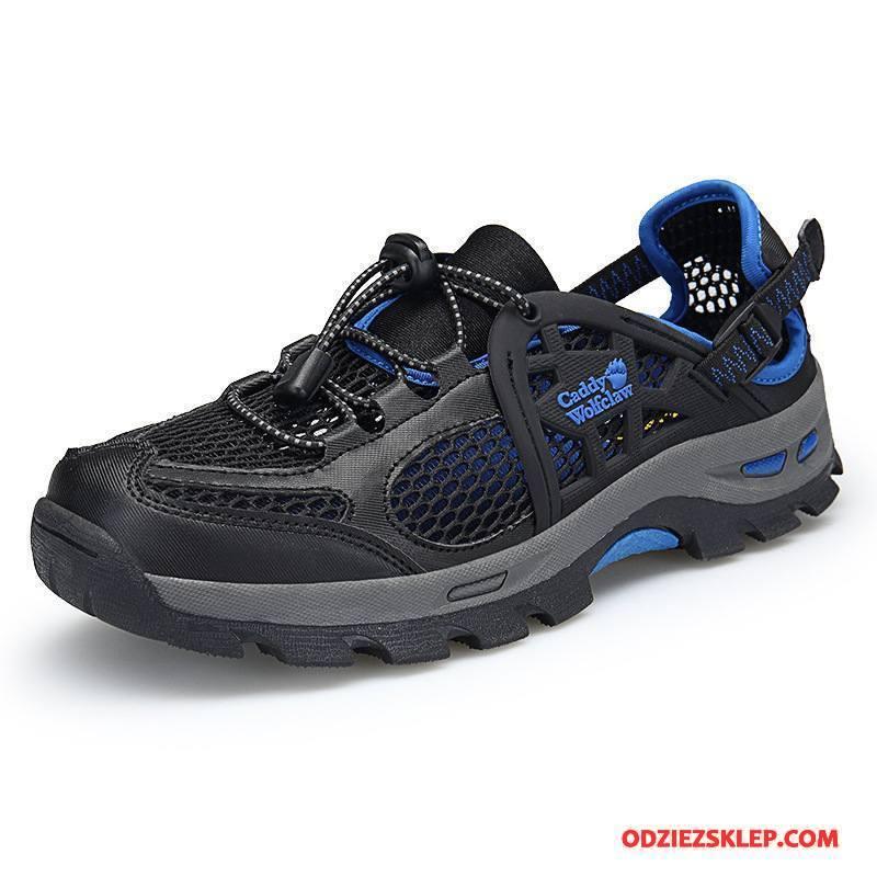 Męskie Buty Na Wędrówki Lato Sandały Męska Oddychające Wędkarskie Buty Trekkingowe Czarny Cielisty Kupię