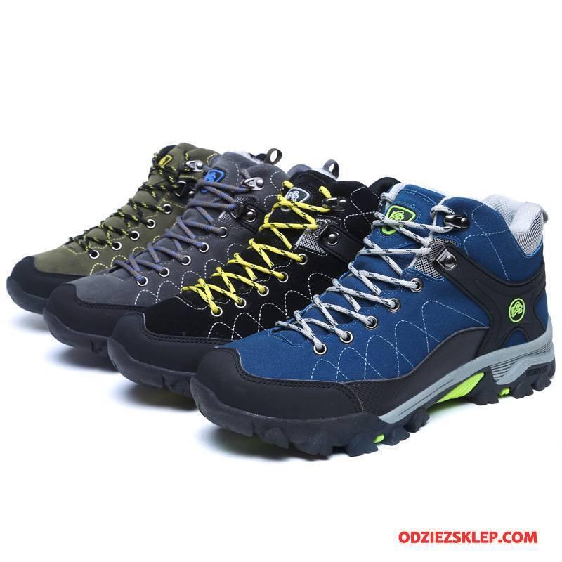 Męskie Buty Na Wędrówki Podróż Buty Trekkingowe 2018 Do Chodzenia Outdoor Odporne Na Zużycie Zielony Sprzedam