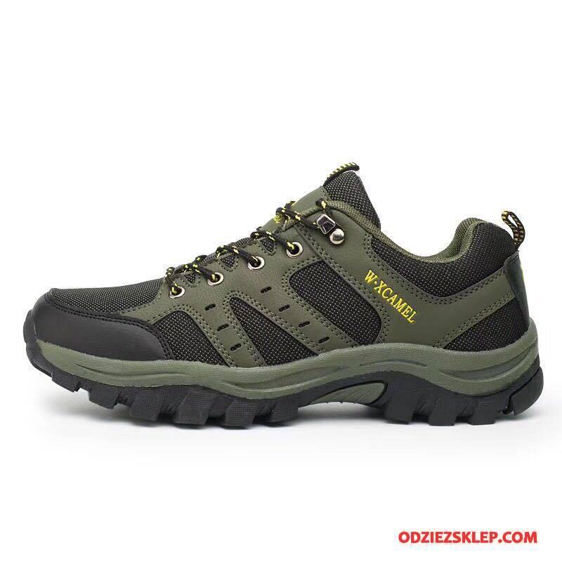 Męskie Buty Na Wędrówki Sportowe Buty Trekkingowe 2018 Antypoślizgowe Odporne Na Zużycie Botki Zielony Na Sprzedaż