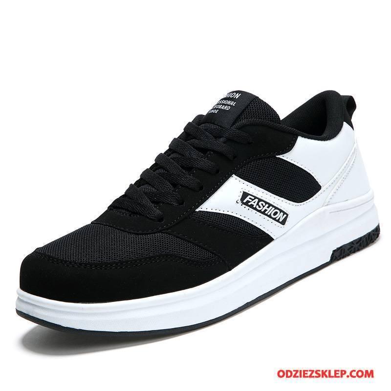 Męskie Buty Sportowe Buty Na Deskorolke Siatkowe Oddychające Tendencja Wszystko Pasuje Winda Biały Czarny Sklep