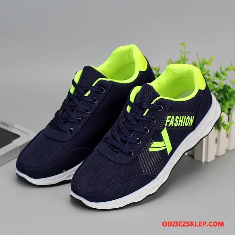 Męskie Buty Sportowe Niskie Trampki Sznurowane Płaskie Buty Specjalne Męska Czarny Sprzedam