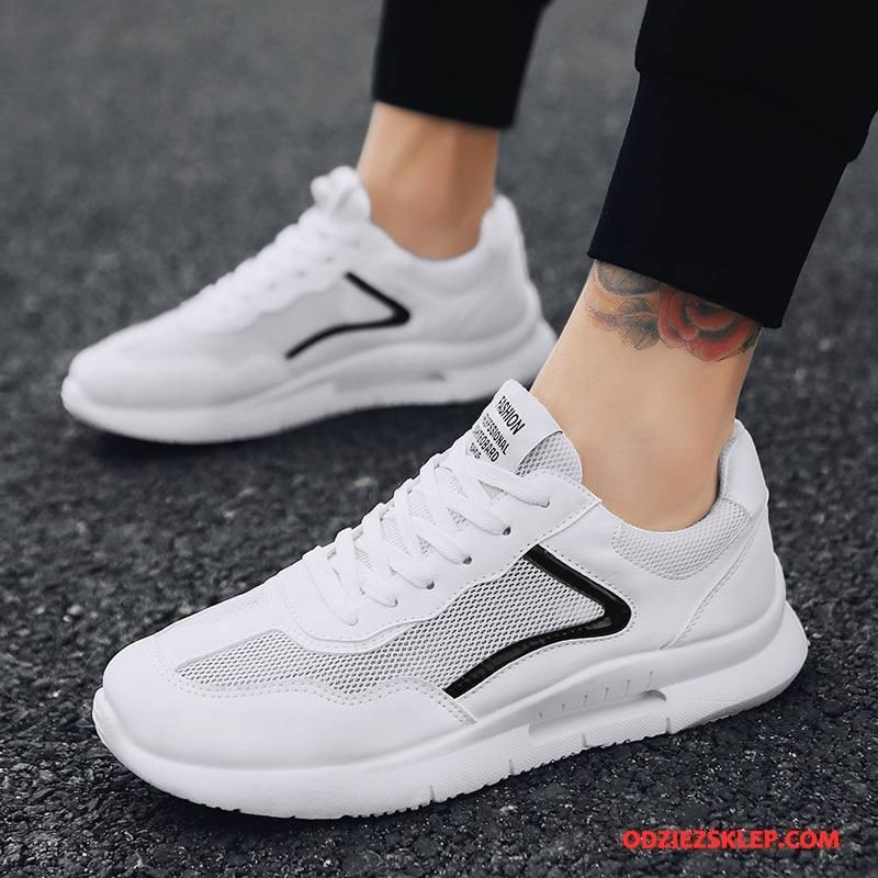 Męskie Buty Sportowe Trampki Odporne Na Zużycie Lato Tendencja Bieganie Casual Biały Tanie