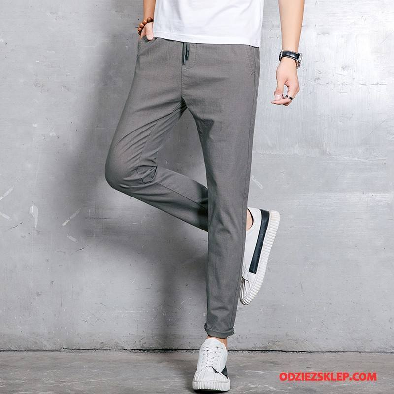 Męskie Casualowe Spodnie 2018 Tendencja Ołówkowe Spodnie Nowy Jesień Nastolatek Szary Tanie