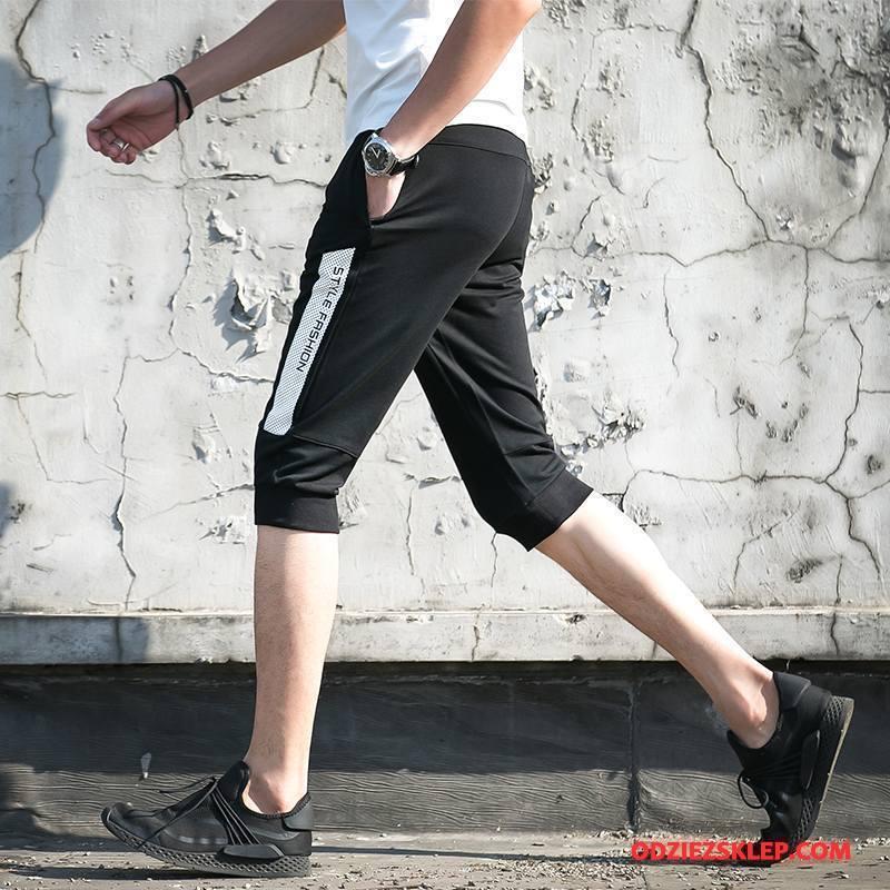 Męskie Casualowe Spodnie Lato Męska Tendencja Plażowe Szorty Slim Fit Czarny Online